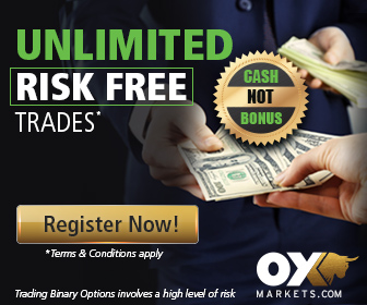 Unlimited risk free trade positions at OXMarkets